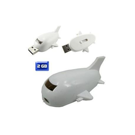 MEMORIA USB EN FORMA DE AVIÓN 2 GB