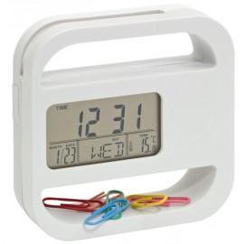 Reloj con portatarjetas y clips
