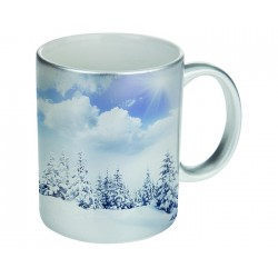 TAZA 11OZ. ANGEL PLATEADO