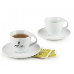 JGO. TAZAS DE CAFE O TE DE 6oz. CON PLATO ENCANTA