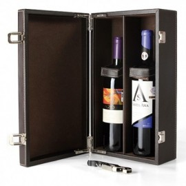SET DE VINO CON PORTA BOTELLAS DOBLE