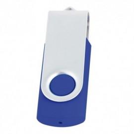 MEMORIA USB DE 8 GB GIRATORIA FABRICADA EN PLASTICO CON METAL
