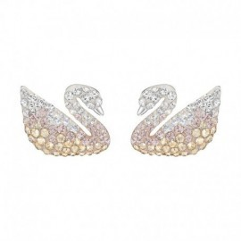 ICONIC SWAN PIERCED EARRINGS SWAROVSKI