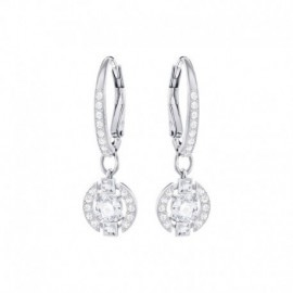SPARKLING DANCE ROUND PIERCED EARRINGS
