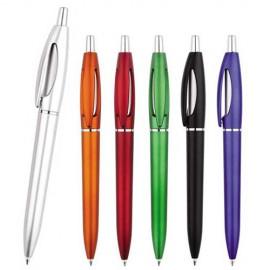 Bolígrafo de plástico con apariencia metálica